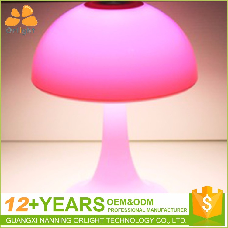 Decoration Rechargeable Mushroom Student Eye-Protect Night Lamp