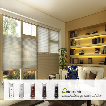 Bintronic motorized day and night cellular shades buy for Motorized top down bottom up shades