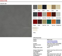 BISCAYNE outdoor pvc artificial leather for boat and yacht upholstery