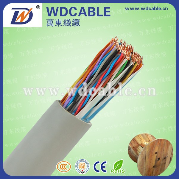 jelly filled underground telephone cable 100 pairs cable color code