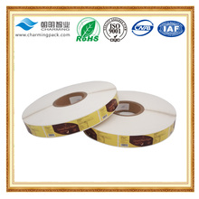 China custom printed frozen food label sticker stick on container