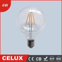 2016 CE CB ROHS 4W E27/B22 Glass LED Bulb 220V Good Prices