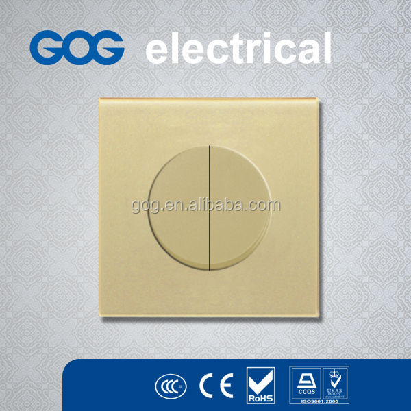 Round big button design switch transparent glass