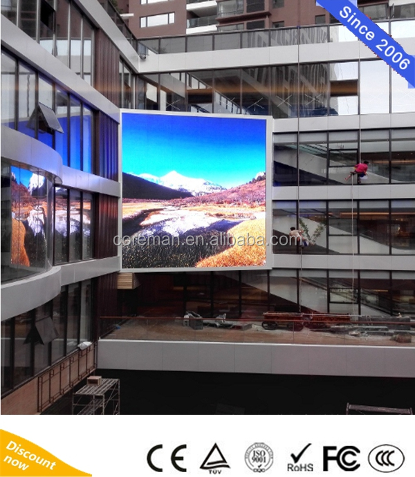 solar powered led signs text Coreman group full color Ourdoor tv panel P2 P2.5 P3 P4 P5 P6 led video wall