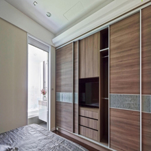 Modern Plywood Laminated 3 Doors Wardrobe