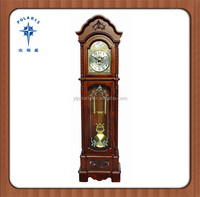Shandong Yantai Cheap Price Wood Mechanical Movements Grandfather Clock