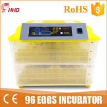 HHD hot sale full automatic cheap chicken/bird/duck egg incubator price in kerala for sale YZ-96