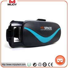 2017 popular cardboard vr viewer with built-in bluetooth space 3d for vr box touch pad glasses