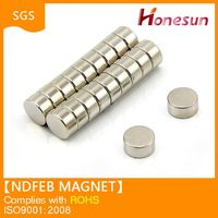 N35 strong sintered round ndfeb magnet for sale