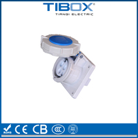 CE IEC waterproof industrial Panel mounted socket /Panel Socket