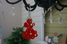 Wholesale high quality laser cut felt angel Christmas tree decoration