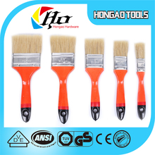 Chinese factory custom logo cover 20mm Poplar wood handle plastic handle wholesale paint brush for decorati