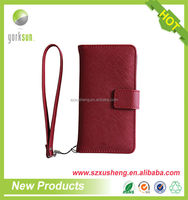 Shenzhen supplier two mobile phones leather case