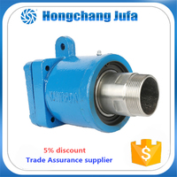 Single flow passage rotary fluid coupling water cooling pipe union joint for flexible tube