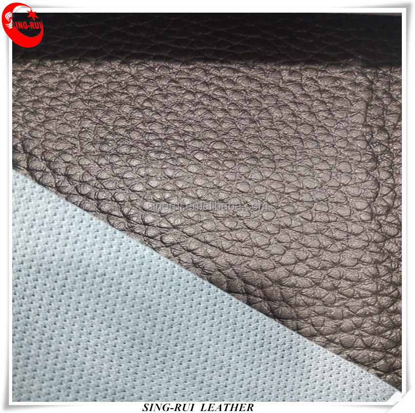 Fish Net Backing PVC Leather Materials For Furniture & auto leather