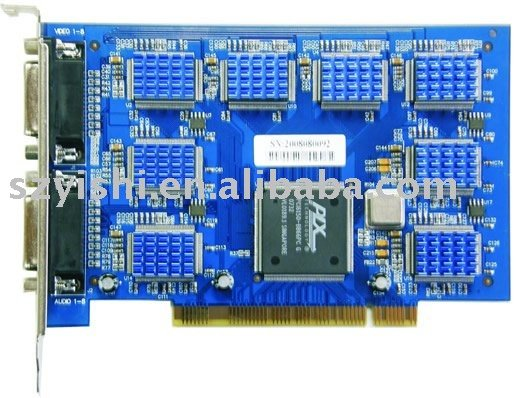Techwell DVR Card TW68 8ch Video and 8ch Audio Software DVR Card Techwell