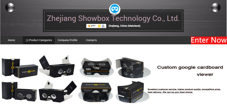 Quick production customized logo printing google vr cardboard 3d glasses