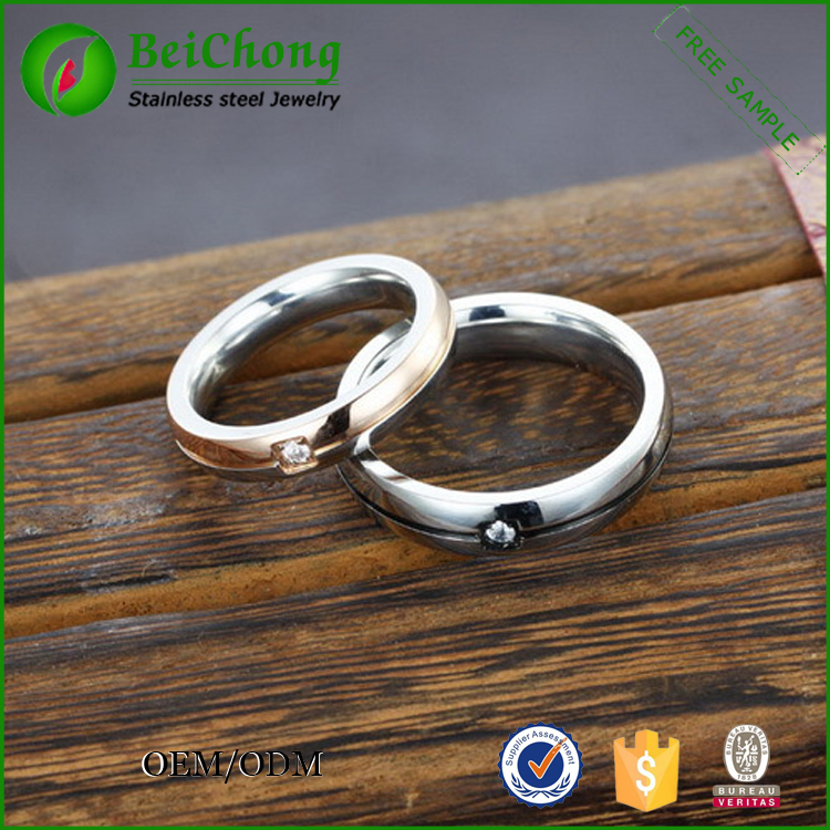 Couple purity stainless steel time jewelry ring