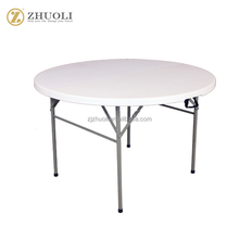 New elegant wedding Factory price round folding metal camping tables