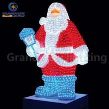 2017 new design LED Christmas outdoor decorative Santa Claus lights
