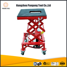 High quality 300LB scissor type hydraulic Motorcycle Lift Table