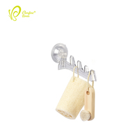 Best Selling Products 4 Hook Suction Wall Mounted Cloth Drying Rack Clothes Plastic Hanger Rack
