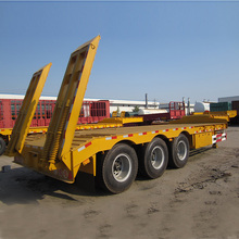 Low Bed Semitrailer Semi-Trailer Trailer Truck Trailer