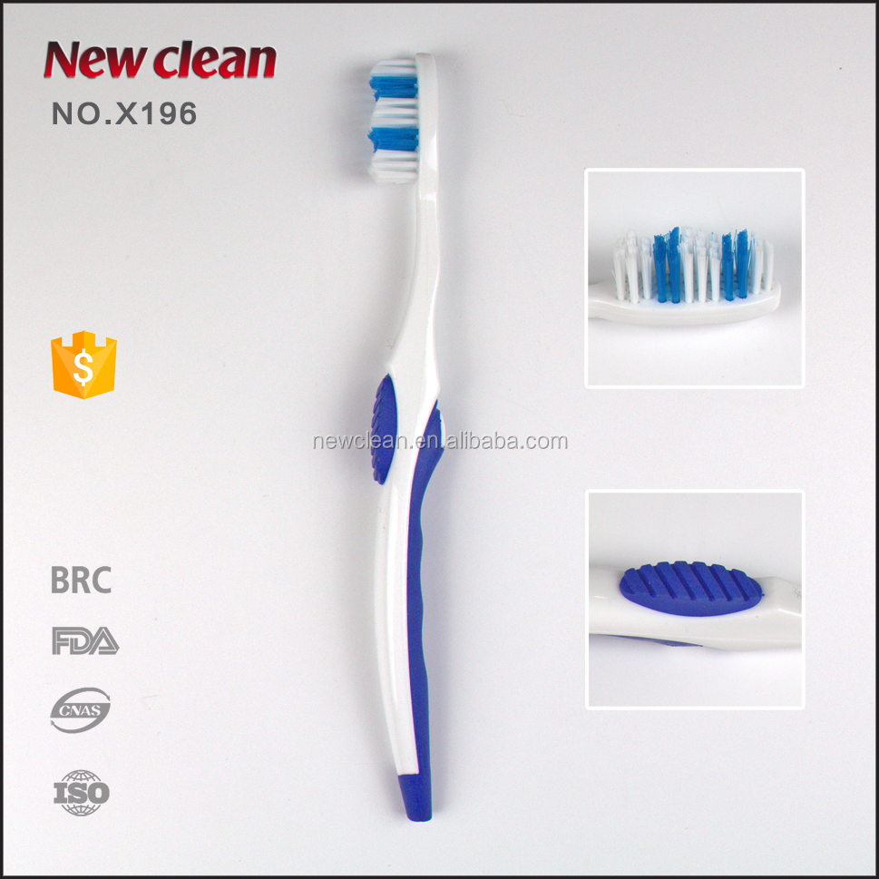 FDA high quality aquafresh toothbrush silicone adult toothbrush