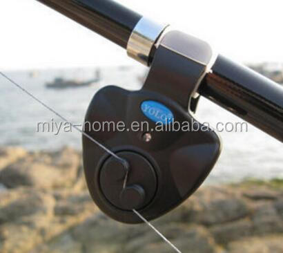 High quality Electronic LED Light Fish Bite Sound Alarm Bell Clip On Fishing Rod / fishing pole Electronic alarm