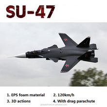 SU-47 1.6M EPS Foam Material Twin 70mm EDF 360 Degree 120KM/H High Speed RC Jet With 2 Brushless Motor Retract Landing Gear RFT