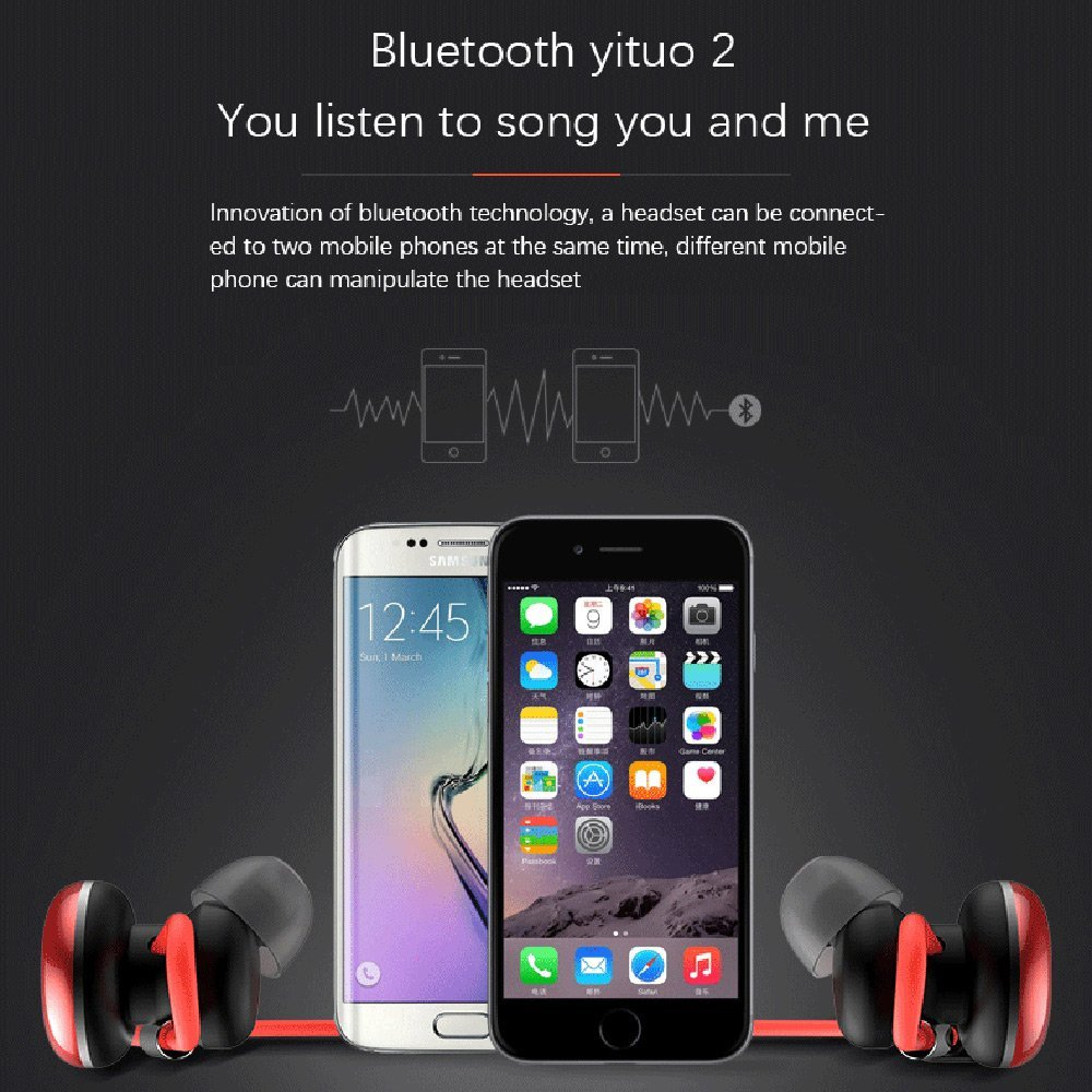 LESIRI HI-FI Stereo Bluetooth Headphone Wireless Metal Magnetic Suction Earphones for Sports & Running Workout Noise Cancelling (3)