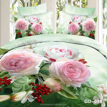 Wholesale China 100% polyester microfiber fabric 3d flower disperse printed bedding set manufacturers