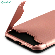 High quality Plastic Hard Mobile cover TPU PC combo smart phone case with card slots