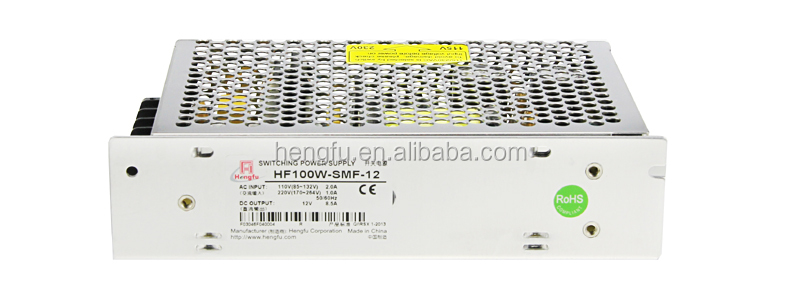 Hengfu power supply HF100W-SSM-12 single output miniature switching power supply with CE approval