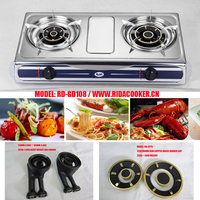 RD-GD108 S/S two burner table top gas cooker gas stove