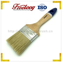 Wholesale disposable white bristle paint brush wooden handle, light painting tools