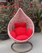 Wicker Hanging Swing Hammock Rattan Pod Egg Chair Indoor Decor