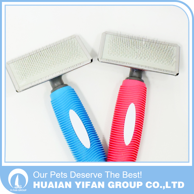 Hot sale round handle anti-skidding plastic pet comb hair brush comb