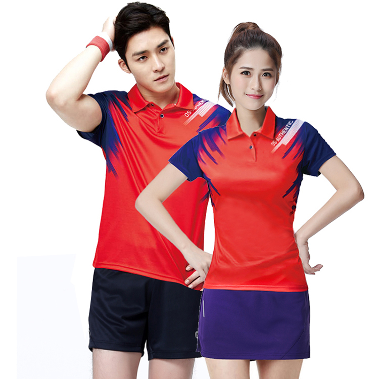 Couple's china sports badminton wear ,sportswear volleyball ,high quality badminton polo shirt