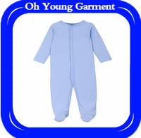 Knitted cotton jersey baby clothes romper with light color,blank baby clothes with your logo embroidery