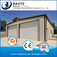 2016 cheap prefab garage/ carports using sandwich panel wall