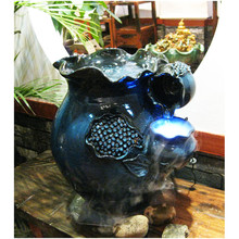 China Fashion Beauty Pure Handmade Large Pottery Manufacture Ceramics Household humidifier wholesale