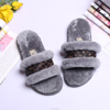 Winter Stylish Sheepskin Multicolour Slippers Leather