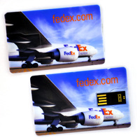 2016 customized credit card style usb flash memory stick