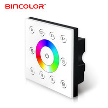 AC85-265V 4 zones control wall mounted dmx 512 rgb led touch panel controller