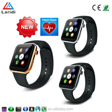 2016 IPS touch screen bluetooth ios smart watch phone A9 with heart rate monitor