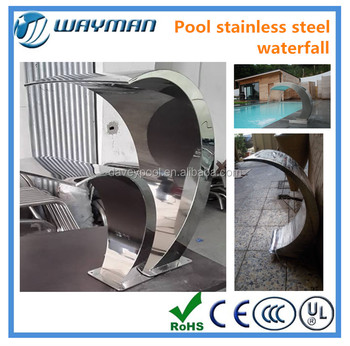 2016new High Quality Stainless Steel Swimming Pool Waterfall Buy Stainless Steel Swimming Pool
