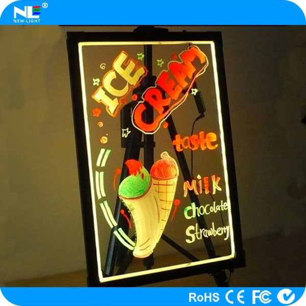 alibaba new product ultra-thin transparent led advertising writing board / advertising blackboard / fluorescent led menu board