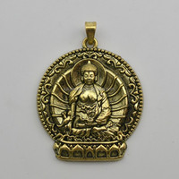 Fashion Religious Jewelry Antique Bronze Single Side Buddha Charms Pendants