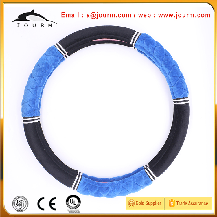 Jourm good quality plush fabric steering wheel cover